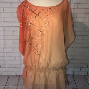 Lane Bryant Tops - Lane Bryant 14/16 sheer top with sequins